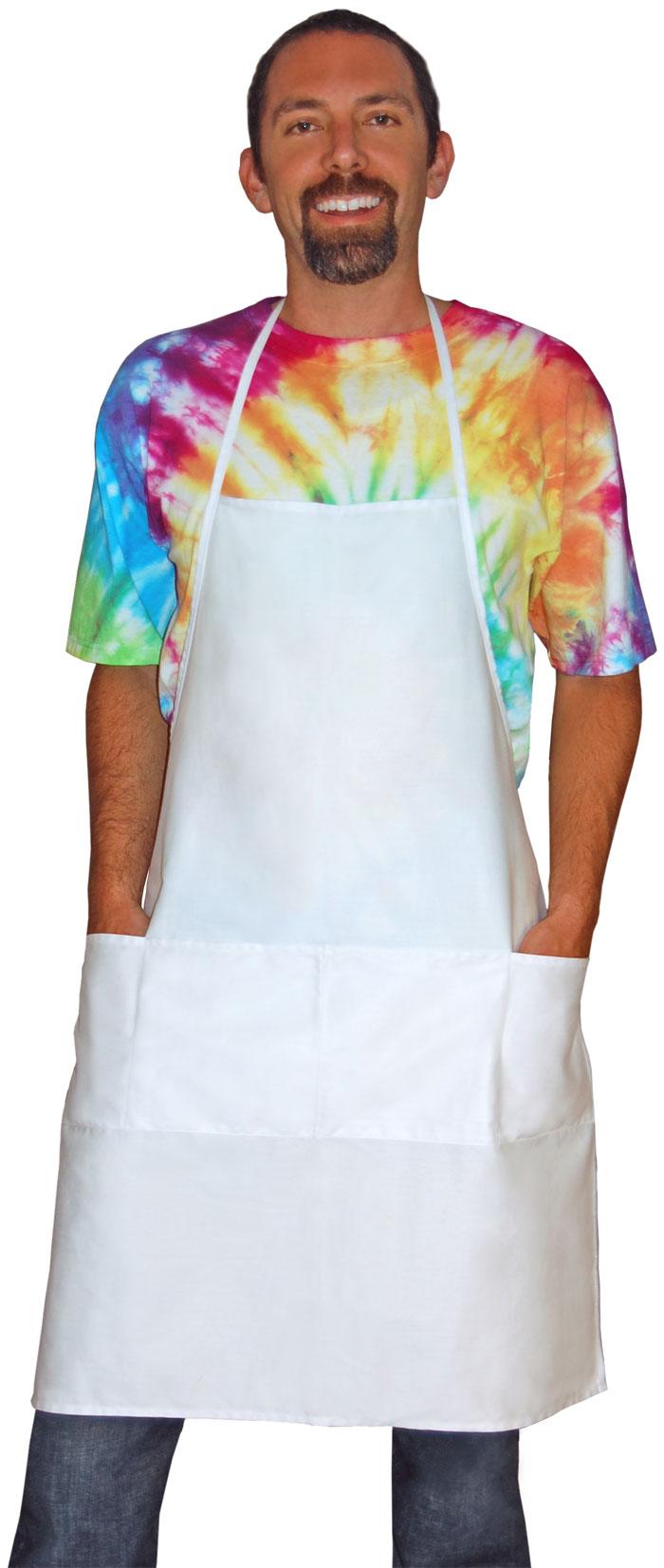 White rubber apron - Grande