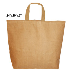 Beach Bag with Cotton Lining - Natural