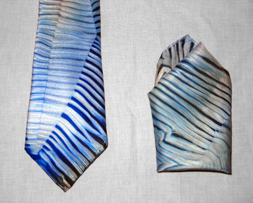 Shibori Necktie and Hankie
