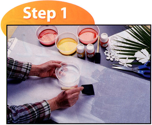 sun painting with setacolor instructions. Black Bedroom Furniture Sets. Home Design Ideas