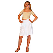 Smocked Short Jersey Skirt