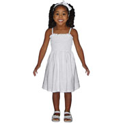 Girl's Smocked Spaghetti Dress