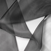 Black Organza 5mm 45""