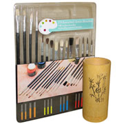 Bamboo Brush Cup Set