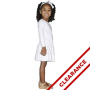 3 Tier Drop Waist Ruffle Dress - Long Sleeve - 2T