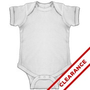 Infant Lap Shoulder Bodysuit With Picot Trim