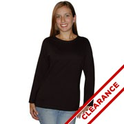 Ladies Jersey Long Sleeve T-shirt Clearance Inventory