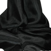 Black Habotai Scarves