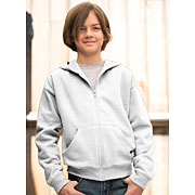 Youth Fleece Hooded Zip Front Sweatshirt With Pockets