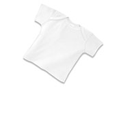 Infant Baby Rib Lap Shoulder T-shirt (Lap Shoulder Short Sleeve Tee #LSSST)