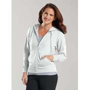 Ladies Zip French Terry Hoodie