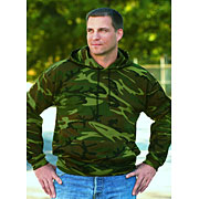 Adult Camouflage Hooded Pullover Sweatshirt With Pouch Pocket