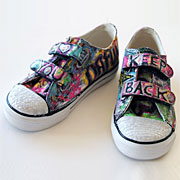 Graffiti Sneakers - Lil Blue Boo Tutorial