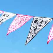 Printed Canvas Bunting - A  Lil Blue Boo Tutorial