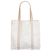 Cotton Duck Tote Bag with Side Pocket
