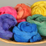 Roving Rainbow with Acid Dyes