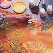 Sun Painting (with Setacolor)