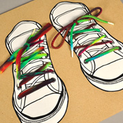 Tie-Dye Shoelaces