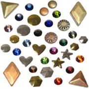 HotFix Jewel and Stud Embellishments - Bulk packs, shapes, colors!