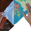 Jones Tones Foil Using Hand Painted Silk Scarf