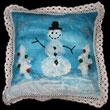 Snowman Pillow Cover