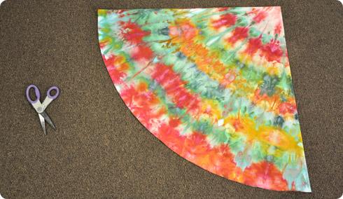 Ice Dyed Christmas Tree Skirt
