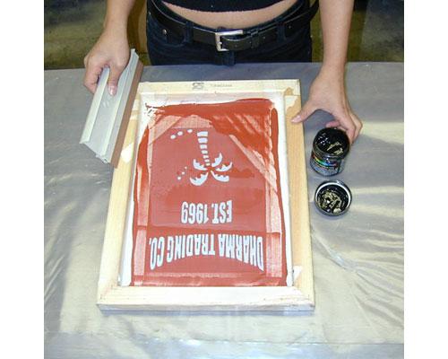 screen printed apron
