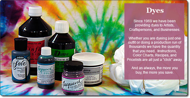 Fabric Dyes From Dharma Trading Co