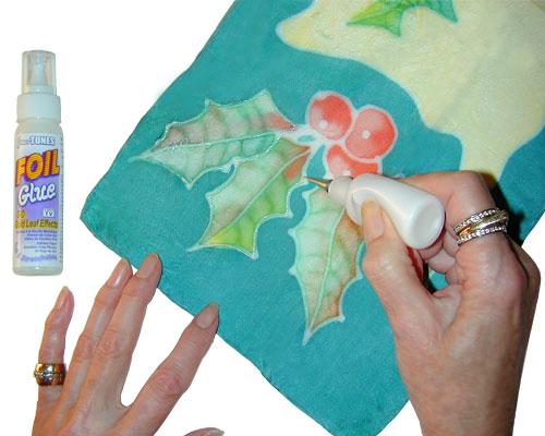 Jones Tones Foil Embellished Silk Scarf