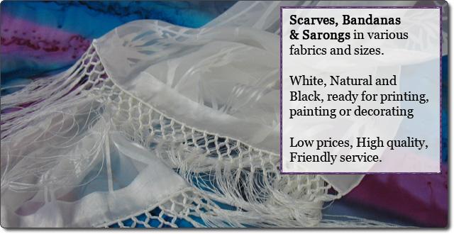 Blank Scarves, Bandanas, Sarongs, and Handkerchiefs