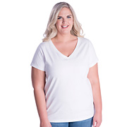 Ladies Curvy V-Neck Premium Jersey Tee