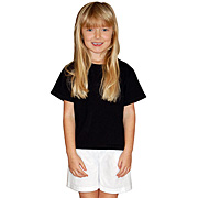 Black Fruit of the Loom Children's Short Sleeve T