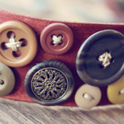 Bohemian Leather Button Cuff  - A  Lil Blue Boo Tutorial