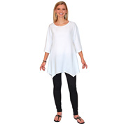 Dolman Sleeved Asymmetrical Top