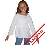Girl's Long Sleeved Smocked Top