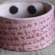 Glittery Leather Cuff - A Lil Blue Boo Tutorial