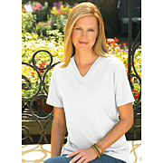 Ladies Jersey V-neck T-shirt (Feminine Fit Softee V-Neck #FFSVN)