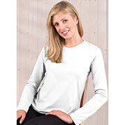 Ladies Jersey Long Sleeve T-shirt (Feminine Fit Softee Long Sleeved #FFSLS)