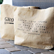 How To Make Personalized Burlap Bags - A Lil Blue Boo Tutorial