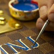 Painting A Monogram on Leather - A Lil Blue Boo Tutorial