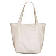 Cotton Duck Tote Bag with Zipper Closure
