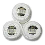 White Pearl Cotton Crochet Thread