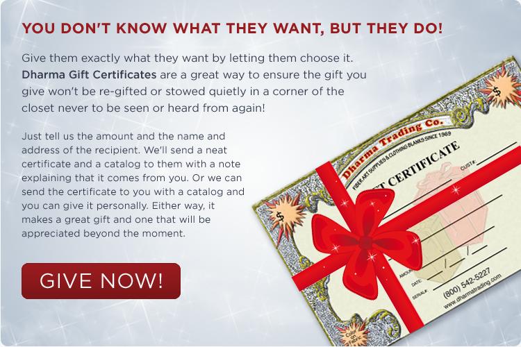 dharma gift certificates