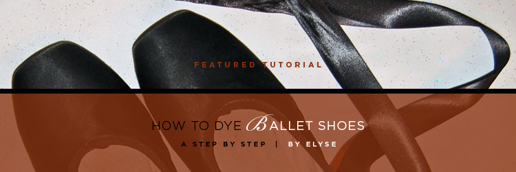 af136287b83063 How to Dye Ballet Pointe Shoes
