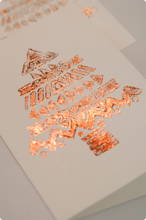 Foil Stamped Christmas Cards - Christmas Lights Card and Decore
