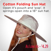 Cotton Folding Sun Hat