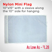 Nylon Mini Flag